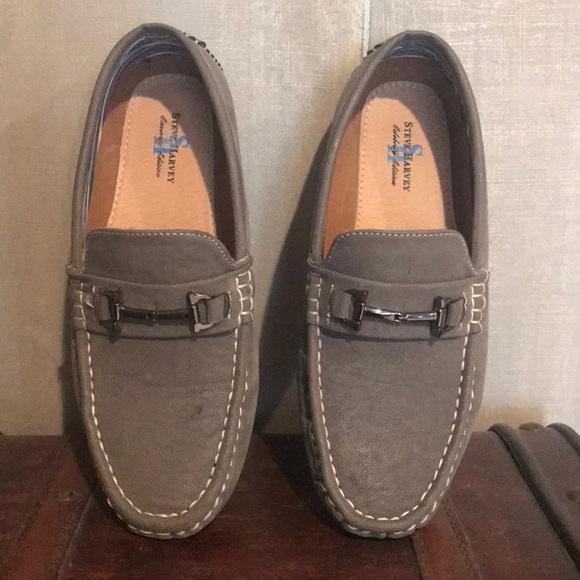 Steve Harvey Shoes Boys Collection Gray Stylish Loafers